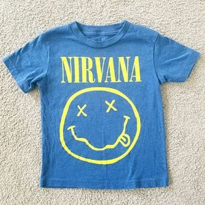 Shirts & Tops - Toddler Nirvana Classic Smiley Face Graphic Tshirt